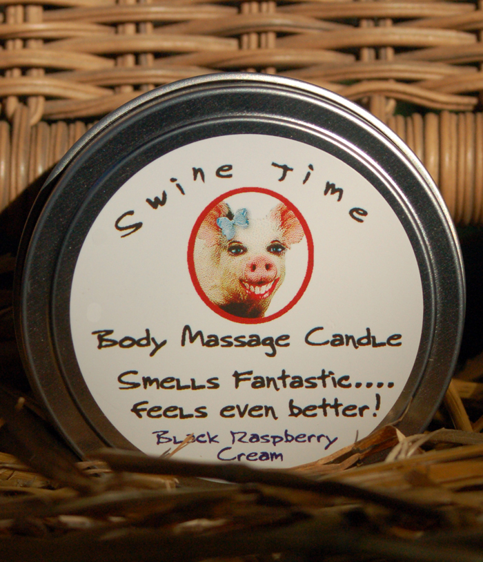 Swine Time Body Massage Candle